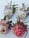 Flori de Nuntă Trandafiri Butoniere Nuntă Petrecere / Seară Satin Tul Piele