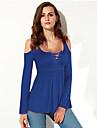 Pentru femei În U - Mărime Plus Size Tricou De Bază - Mată Decupată / Toamnă / Dantelat