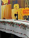 Pătrat Cu model / Brodat Fețe de masă , Amestec In / Bumbac Material Crăciun Decor Favor 1