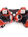 Carcasă De Protecție Din Silicon În Două Culori Pentru Manetă PS3 (Roșu și Negru)