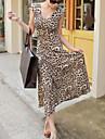 Femei Minunat Leopard Maxi Dress