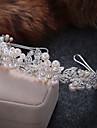 Femei Aliaj Imitație de Perle Diadema-Nuntă Ocazie specială Informal Tiare Cordeluțe 1 Bucată