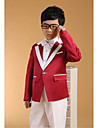 Alb Bumbac Costum Cavaler Inele - 6 Include Jacketă Pantaloni Vestă Brâu Cămașă Papion