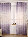 Canal pentru tijă Un Panou Tratamentul fereastră Modern, Imprimeu Floare Cameră Copii Amestec poli/bumbac Material Sheer Perdele Shades