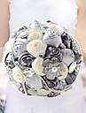 Flori de Nuntă Rotund Trandafiri Buchete Nuntă Petrecere / Seară Aniversare Poliester Satin Taftă Dantelă Spandex Mărgea Spumă Ștras