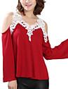 Pentru femei Cu Bretele-Mărime Plus Size Tricou Casual-Peteci Decupată