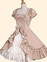 Princess Sweet Lolita Dress Women\'s Skirt Cosplay Green / Pink Ball Gown Short Sleeves Short Sleeve Medium Length Plus Size Customized Costumes