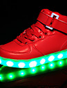 Fete Adidași Confortabili Pantofi Usori Piele Primăvară Vară Toamnă Iarnă De Atletism Casual Confortabili Pantofi Usori Cârlig & Buclă LED