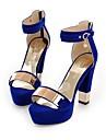 Damă Pantofi Lână Primăvară Vară Toamnă Pantofi pe Gleznă Confortabili Sandale Plimbare Toc Gros Platformă Vârf deschis Cataramă Pentru