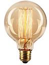 Ecolight™ 1 buc 40W E27 E26 / E27 G80 Alb Cald 2300k Incandescent Vintage Edison bec 220-240V