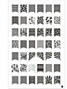 nail art Stamping Plate Abstract Classic High Quality Daily