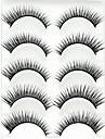 Rzęsa Sztuczne rzęsy 5 pcs Rozszerzony Podniesione rzęsy Większa objętość Włókno Pełne rzęsy Splot krzyżowy Naturalna długość - Makijaż Makijaż codzienny Makijaż imprezowy Kosmetyk Akcesoria do