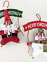 Holiday Decorations Christmas Decorations Coronițe de Crăciun Jucarii Costume Moș Om de zapada 3D Lemn 2 Bucăți Crăciun Cadou