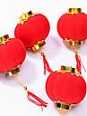 3 قطع صغيرة يتدفقون الفوانيس الحمراء حفل زفاف ديكور هدية الحرفية diy لطيف البلاستيك الصينية الفوانيس