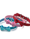 Hund Halsband Justerbara / Infällbar Paljetter Enfärgad Röd Blå Rosa