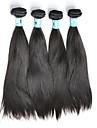 Human Hår vävar Peruanskt hår Ret 4 delar hår väver