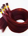 je pointe les extensions de cheveux humains de fusion keratine cheveux brazilian # 350 vin rouge fonce cheveux 100 pcs 50 brazilian / lot