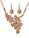 Dame Seturi de bijuterii Ștras Diamant sintetic La modă Pietre sintetice Aliaj Cross Shape Păun 1 Colier 1 Pereche de Cercei Pentru