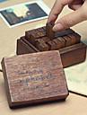 ștampilele cu litere mici scrisori model de epocă stabilite (28 buc / set)