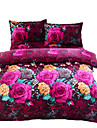 Duvet Cover Sets 3D Polyester Reactive Print 4 Piece Bedding Sets full