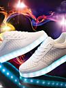 Unisex Adidași Primăvară Vară Toamnă Iarnă Confortabili Piele Outdoor Casual Atletic Toc Jos Dantelă Cârlig & Buclă LED Negru Alb