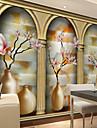Φλοράλ Art Deco 3D Αρχική Διακόσμηση Σύγχρονο Κάλυψης τοίχων, Καμβάς Υλικό κόλλα που απαιτείται Τοιχογραφία, δωμάτιο Wallcovering