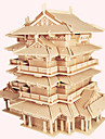 Wooden Puzzle Famous buildings Chinese Architecture House Professional Level Wooden 1pcs Kid\'s Boys\' Gift