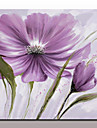 Pictat manual Natură moartă Floral/Botanic Picturi de ulei,Modern Stil European Un Panou Canava Hang-pictate pictură în ulei For Pagina
