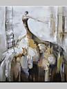HANDMÅLAD Människor Fyrkantig, Moderna Europeisk Stil Duk Hang målad oljemålning Hem-dekoration En panel