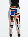 Pentru femei Casual Harem Blugi Pantaloni Multicolor Imprimeu reactiv