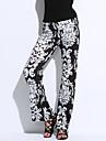 Pentru femei Vintage Talie Înaltă Larg Blugi Pantaloni - Stil modern Imprimeu