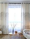 Două Panouri Tratamentul fereastră European , Desene Animate Dormitor Amestec de In/ Poliester Material perdele, draperiiPagina de