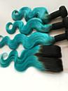 Cheveux Bresiliens Ondulation naturelle A Ombre 4 offres groupees Tissages de cheveux humains Vert