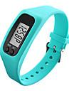 Heren Dames Sporthorloge Polshorloge Digitaal horloge Digitaal Rubber Zwart / Wit / Blauw Stappentellers LCD Cool Digitaal Rood Groen Blauw / Kleurrijk