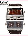 Bărbați Ceas Sport Ceas Militar  Ceas La Modă Ceas de Mână Quartz Calendar Zone Duale de Timp  Piele Autentică Bandă Lux Vintage Casual