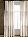 Două Panouri Tratamentul fereastră Țara Modern Neoclasic Mediteranean European Dormitor Amestec de In/ Poliester Materialperdele,