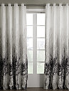 Stångficka Hyls-topp Hällor topp Dubbel veckad Två paneler Fönster Behandling Land, Jacquard Sovrum Polyester Material gardiner draperier