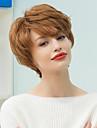 Human Hair Capless Parykar Äkta hår Naturligt vågigt Klassisk Hög kvalitet Maskingjord Peruk Dagligen