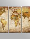Imprimate în rulouri de pânză Tradițional, Trei Panouri pânză Orizontal Imprimeu Decor de perete Pagina de decorare