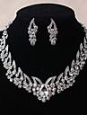 Pentru femei Cristal Set bijuterii - Include Argintiu Pentru Nuntă / Petrecere / Zilnic / Casual