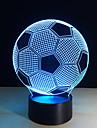 nya kreativa fotboll form 3d illusion nattlampa 7colors utbytbara för sovrum dekoration