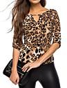 Pentru femei În V Tricou Leopard