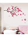 Romantic Modă Florale Perete Postituri Autocolante perete plane Autocolante de Perete Decorative, Hârtie Pagina de decorare de perete