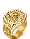 Bărbați Inel de declarație - Placat Auriu Iubire Personalizat 9 / 10 / 11 Auriu Pentru Nuntă / Petrecere / Aniversare