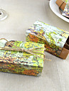 Round / Square / Cuboid Card Paper Favor Holder with Ribbons / Printing Favor Boxes - 50
