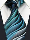 Bărbați Geometric Bloc Culoare Jacquard De Bază Draguț Petrecere Birou, Celofibră - Cravată