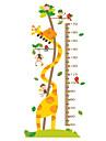 Djur Botanisk Tecknat Väggklistermärken Väggstickers Flygplan Dekrativa Väggstickers Höjdmätarstickers, Vinyl Hem-dekoration