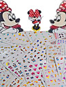 1set 77pcs mixed lovely colorful cartoon image expression mickey design nail art watermark sticker water transfer decals nail decoration