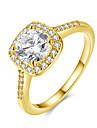 Inel Zirconiu Zirconiu Cubic Oțel La modă Auriu Argintiu Trandafiriu Bijuterii Zilnic 1 buc