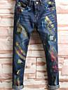 Bărbați Casual Talie Medie, Micro-elastic Drept Blugi Pantaloni Bumbac Primăvară Toamnă Toate Sezoanele